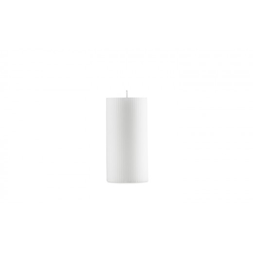 Normann Cph Grooved Block Candle, white-31