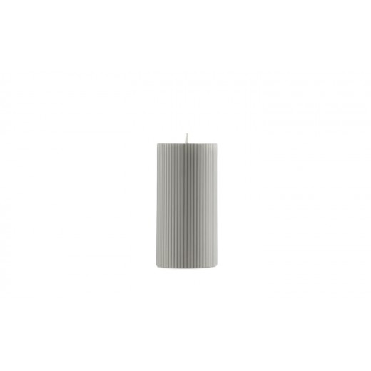 Normann Cph Grooved Block Candle, grey-31
