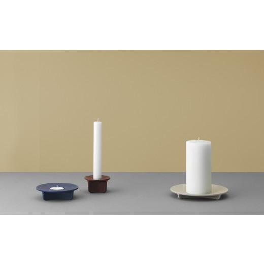 Normann Cph Fe block candle holder, light grey.-32