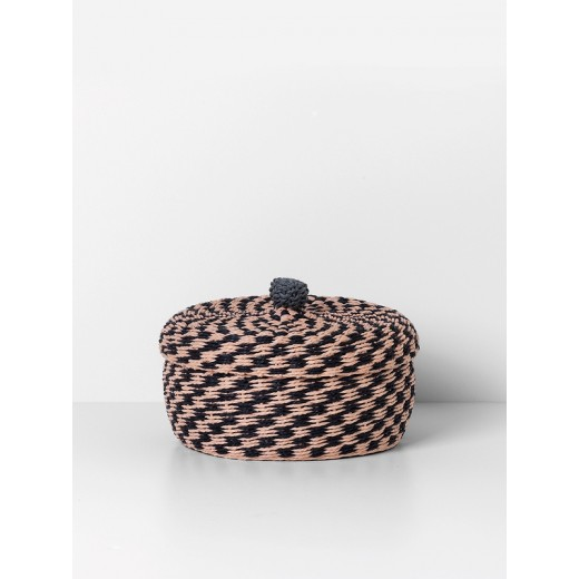 Ferm Living Braided basket Large, rose-31