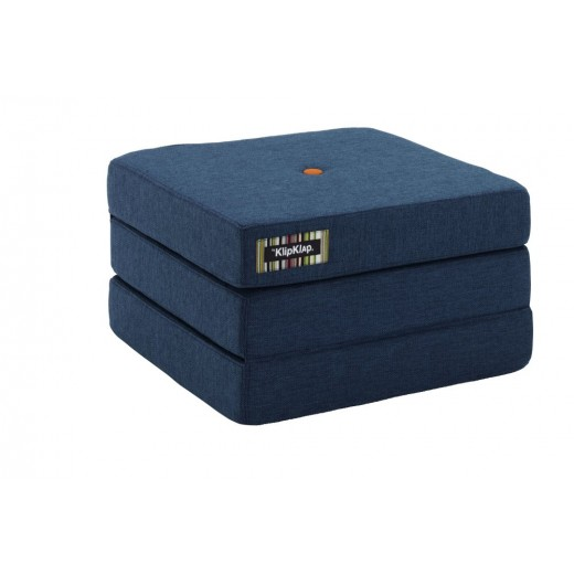 By Klipklap KK 3fold single (Dark Blue 90 w. orange buttons). Varierende levering.-31