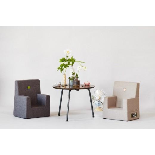 By Klipklap KK Kids Chair (Dusty Blue 949 w. blue buttons)-31