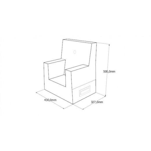 By Klipklap KK Kids Chair (Blue Grey 510 w. green buttons). Varierende levering.-31