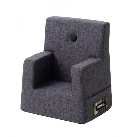 By Klipklap KK Kids Chair (Blue Grey 510 w. grey buttons)-31