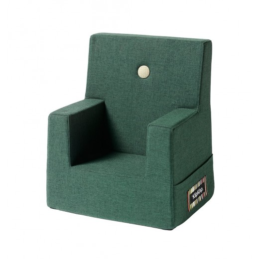 By Klipklap KK Kids Chair (Deep Green 920 w. light green buttons)-31