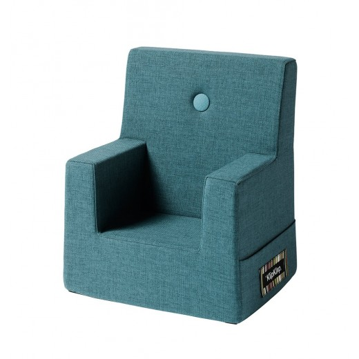By Klipklap KK Kids Chair (Dusty Blue 949 w. blue buttons). Variende levering.-31