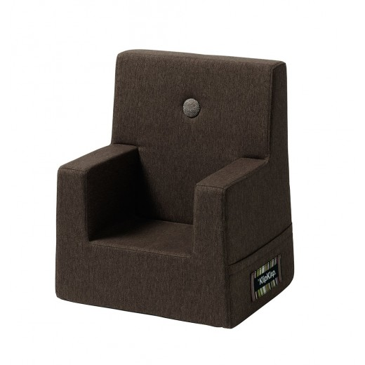 By Klipklap KK Kids Chair (Hazel Brown 31116 w. brown buttons)-31