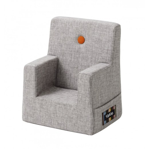 By Klipklap KK Kids Chair (Multi Grey 520 w. orange buttons)-31