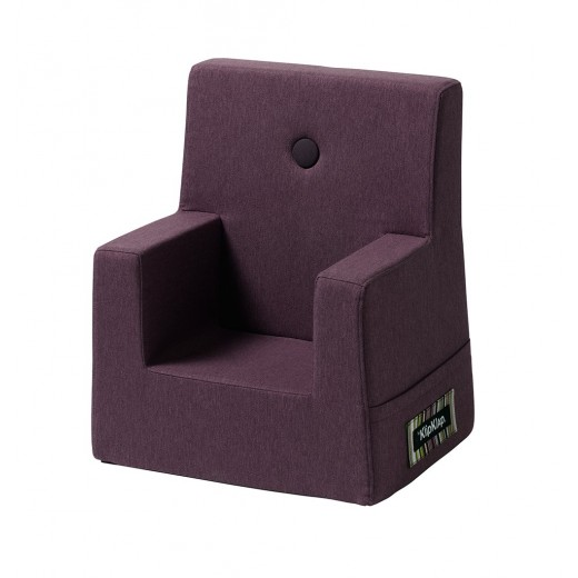 By Klipklap KK Kids Chair (Plum 2314 w. plum buttons)-31