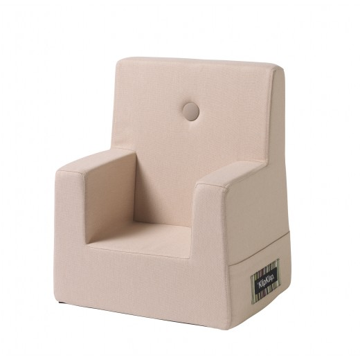 By Klipklap KK Kids Chair (Soft Rose 11395 B w. rose buttons)-31