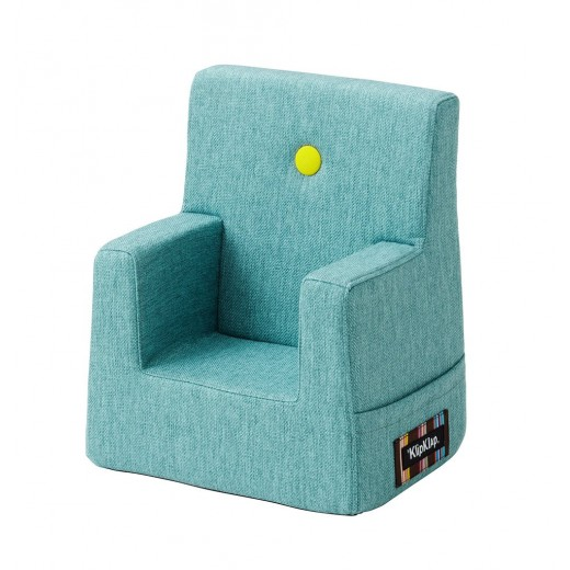 By Klipklap KK Kids Chair (Turquoise 200 w. yellow buttons)-31
