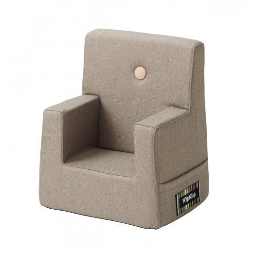 By Klipklap KK Kids Chair (Warm Grey 20 w. light peach buttons)-31