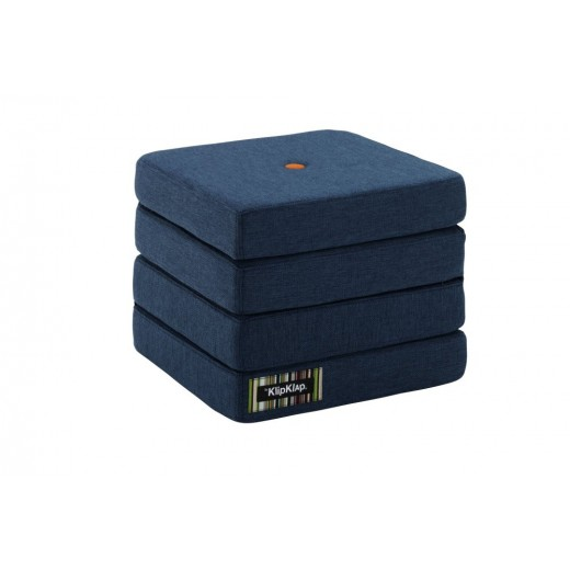 By Klipklap KK 4fold Dark Blue 90 w. orange buttons.-31