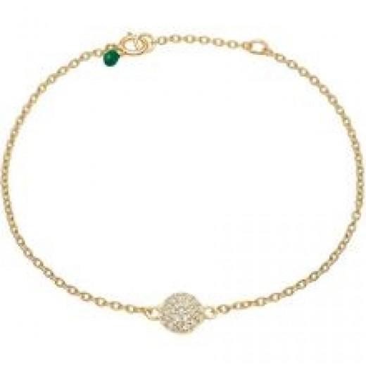 Enamel Bracelet, sparkling dot Guld m. chikorier-31