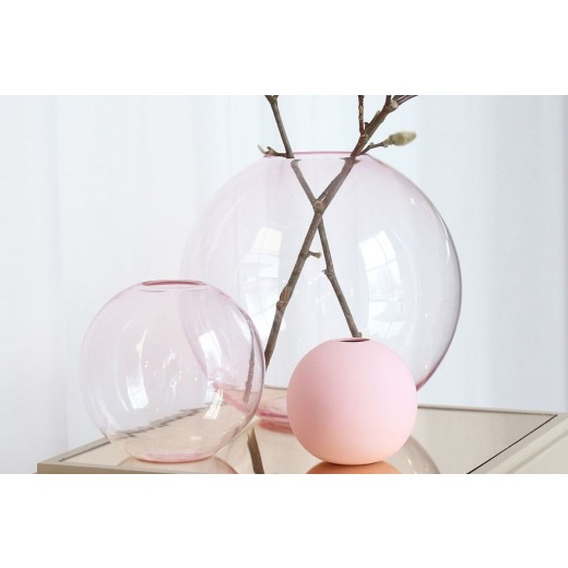 Cooee Ball Vase Dusty Pink 10 cm-31