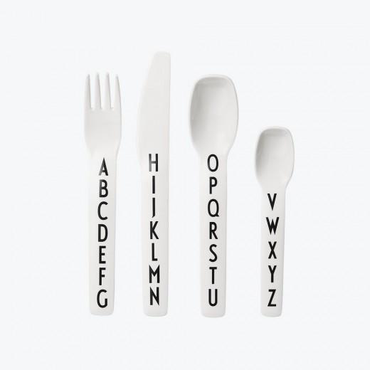 Design Letters - Børnebestik - Hvid