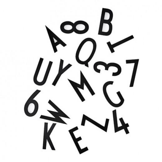Design Letters Letter Box, Black, 50 mm.-31