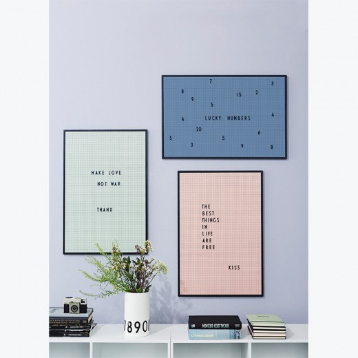 Design Letters - Message board - Pink A2 - Rosa