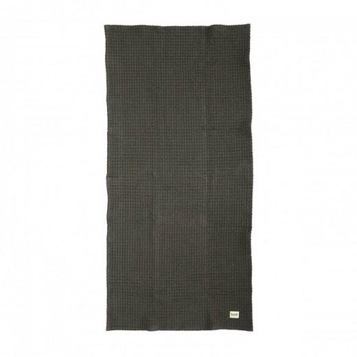 Ferm Living Organic Bath Towel Dark grey-31