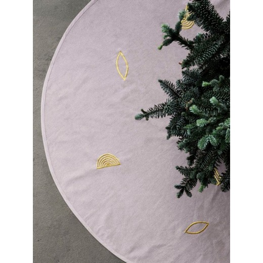 ferm LIVING Christmas tree blanket, rose, Ø120 cm.-31