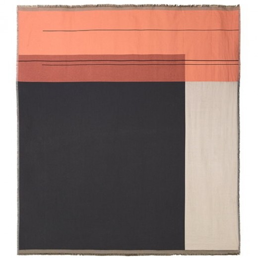Ferm Living Colour Block Bed Cover Rose-31