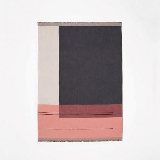 Ferm Living Colour Block Throw bordeaux-31