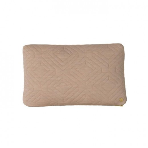 Ferm Living Quilt Cushion camel-31
