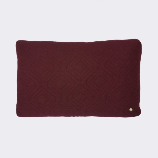 Ferm Living Quilt Cushion bordeaux-31