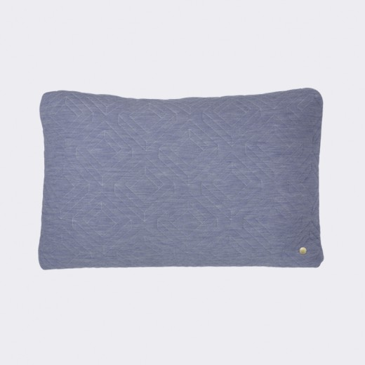 Ferm Living Quilt Cushion lys blå-31
