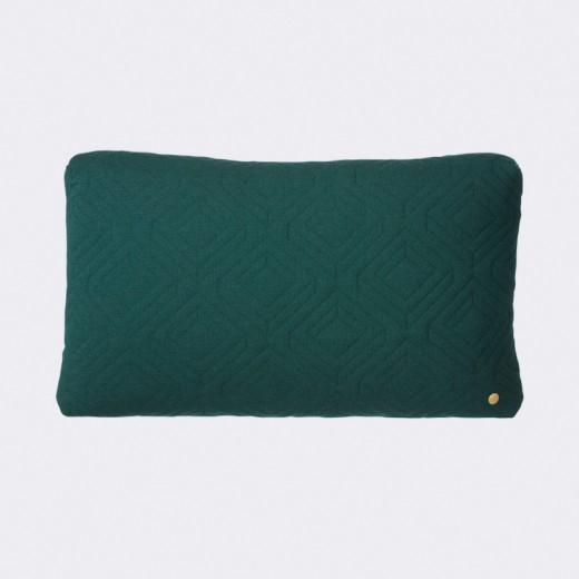 Ferm Living Quilt Cushion mørk grøn-31