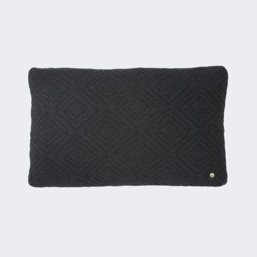 Ferm Living Quilt Cushion Mørk grå-31