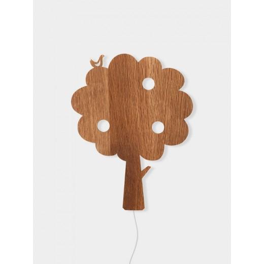 Ferm Living Tree lamp smoked oak-31