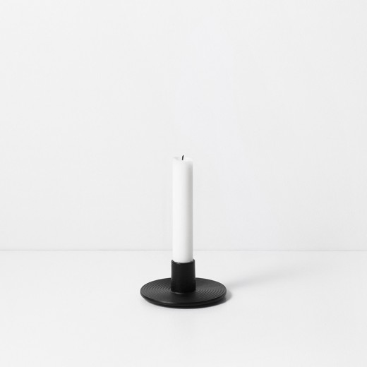 Ferm Living Cast Iron Candle Holder black-31