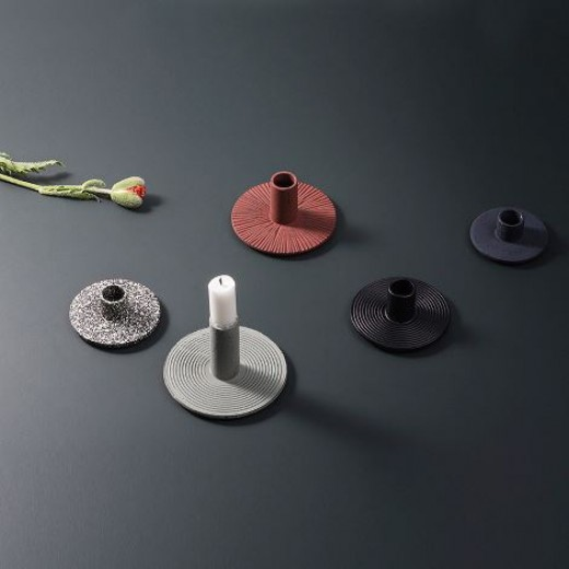 Ferm Living Cast Iron Candle Holder Spotted-31
