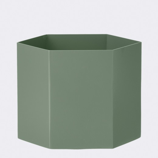 ferm living hexagon pot xl dusty green. Black Bedroom Furniture Sets. Home Design Ideas