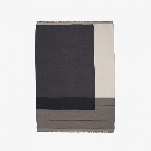 Ferm Living Colour Block Throw grey-31