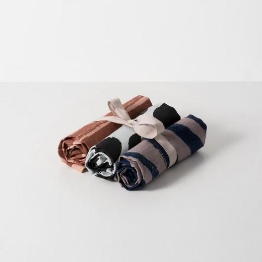 Ferm Living Brush Tea Towels Rust/rosa-31
