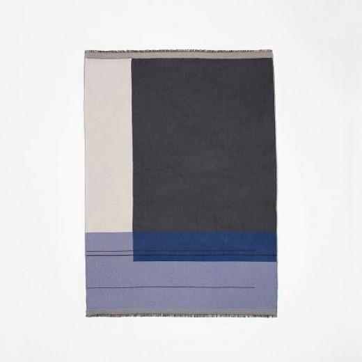 Ferm Living Colour Block Throw blue-31