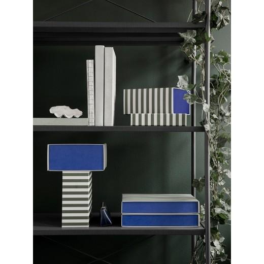 Ferm Living Striped box Green/off-white-31