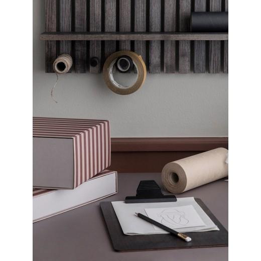 Ferm living Striped Box Rectangle Bordeux/rose-33