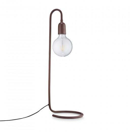 H Skjalm P Lampe formet af rør Mat bordeaux-31
