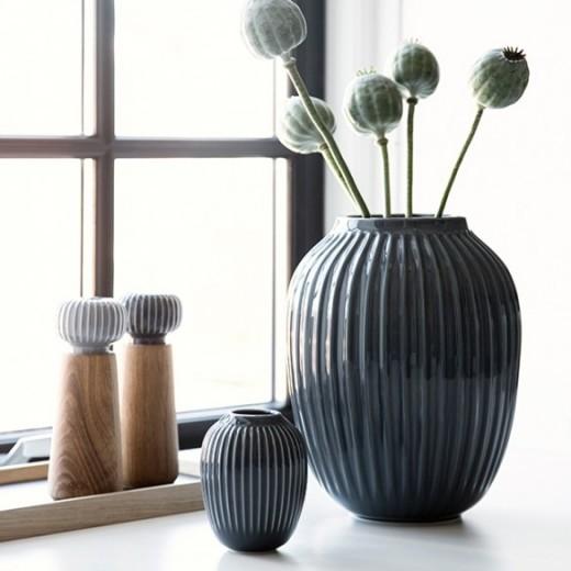 Kähler Hammershøi Vase (stor) Antracitgrå-31