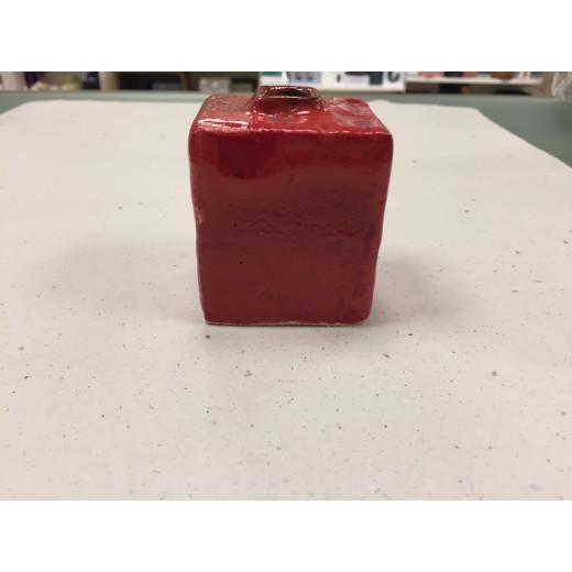 Bjarni Sigurdsson Vase rød BS19 H6 cm.-31