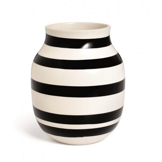 Kähler Omaggio Vase sort mellem-31