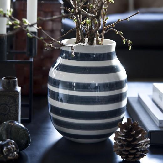 Kähler Omaggio Vase Mellem (Granitgrå)-31