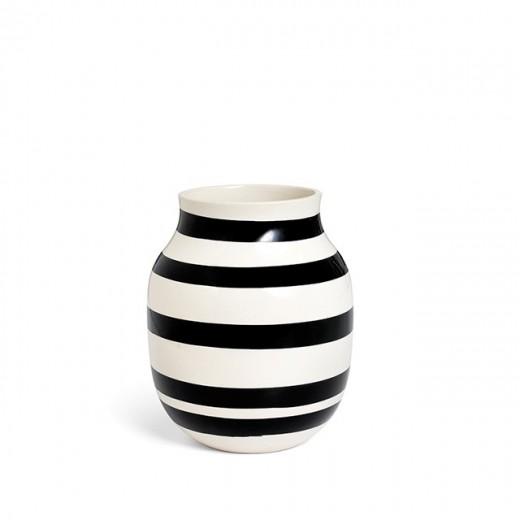 Kähler Omaggio Vase Mellem (Sort)-31