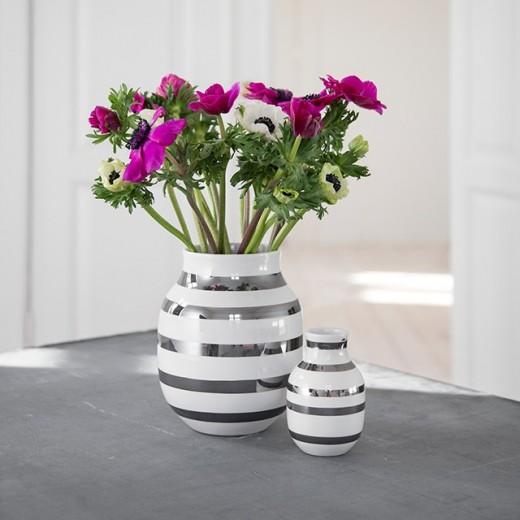 Kähler Omaggio Vase Stor (Sølv)-31