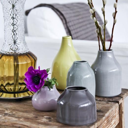 Kähler Botanica Mini Vase Lille (Gråbrun)-31