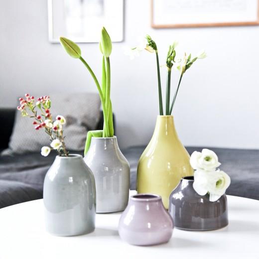 Kähler Botanica Mini Vase Stor (Grå)-31