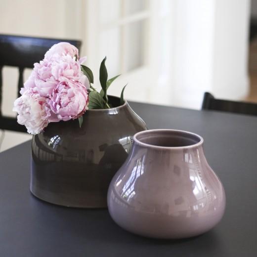 Kähler Botanica, Vase Stor (Gråbrun)-31